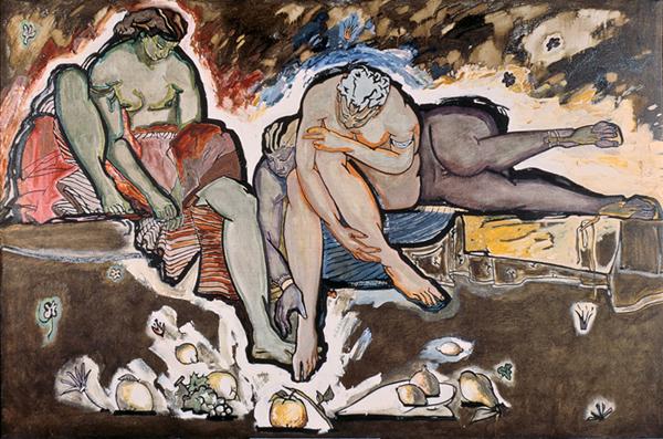"""""""Суд париса"""", 70 х 120 см, холст/масло, 1988-89"""